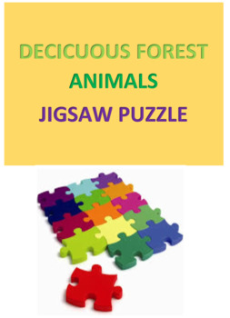 Deciduous Forest Animals Jigsaw Puzzle