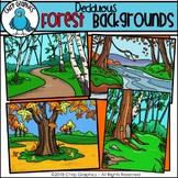 Deciduous Forest Background Scenes Clip Art - Chirp Graphics