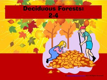 Deciduous Forest Biomes 2-4 Package