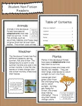 Deciduous Forest Informational Unit