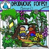 Deciduous Forest Elements Clip Art - Chirp Graphics