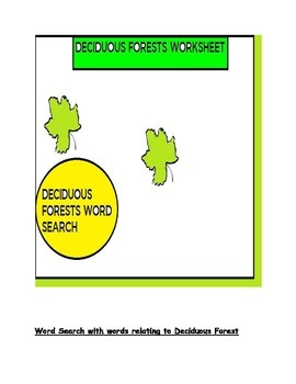 Deciduous Forests Word Search