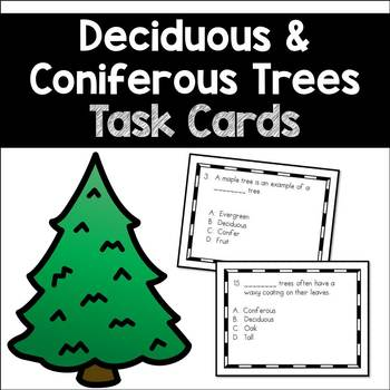 Deciduous and Coniferous Trees: Task Cards