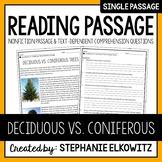 Deciduous vs. Coniferous Trees Reading Passage
