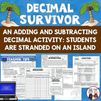 Decimal Activities Bundle Comparing Rounding Adding Subtracting and More