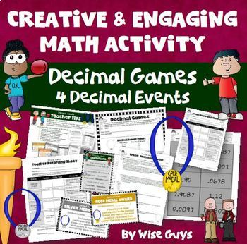 Decimal Activities Bundle Adding Subtracting Multiplying Dividing and More