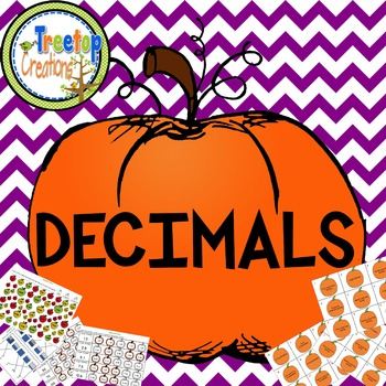 Decimal Activities Fall Theme