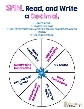 Decimals Activity Bundle