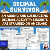 Decimals Adding and Subtracting Decimals Activity Stranded on an Island