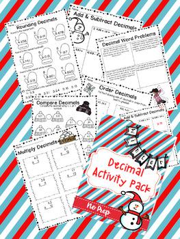 Decimal Activity Pack Winter Themed