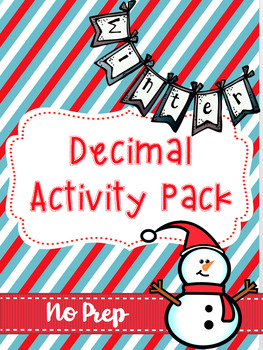 Decimal Activity Pack Winter Themed