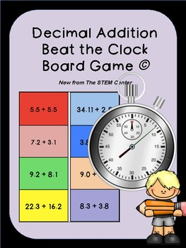 Decimal Addition Beat the Clock Game