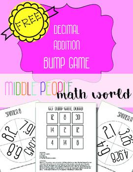 Decimal Addition Bump Game