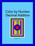 Decimal Addition Color by Number
