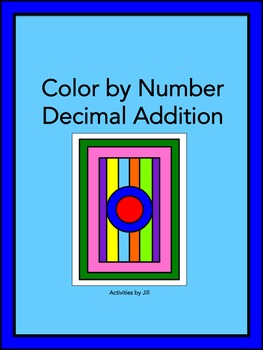 Decimal Addition Color by Number