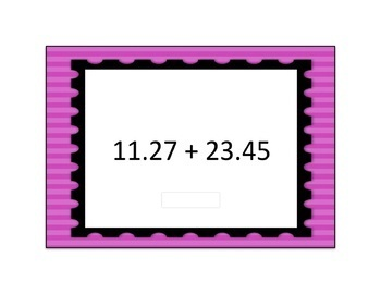 Decimal Addition Computation Digital Boom Card Deck 1