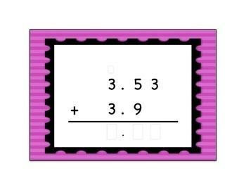 Decimal Addition Computation Digital Boom Card Deck 2