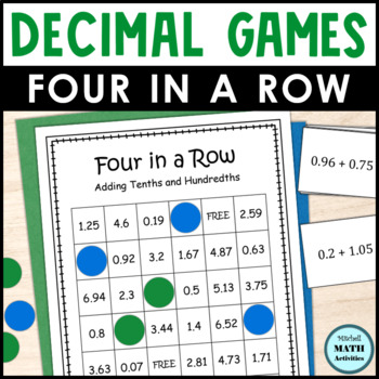Decimal Addition Four in a Row Games