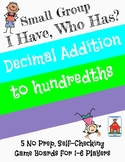 Decimal Addition 'I Have, Who Has?' Small Group Game