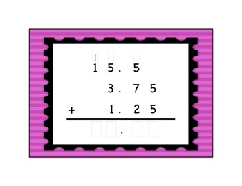 Decimal Addition Printable and Digital Task Cards BUNDLE {Differentiated}