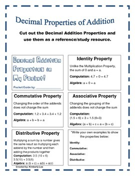 Decimal Addition Properties