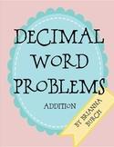 Decimal Addition Word Problems