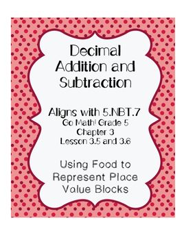 Decimal Addition and Subtraction - Modeling with Food!
