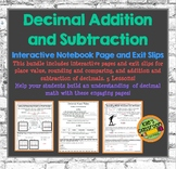 Decimal Addition and Subtraction Interactive Notebook - Gu
