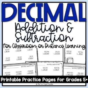 Decimal Addition and Subtraction Practice