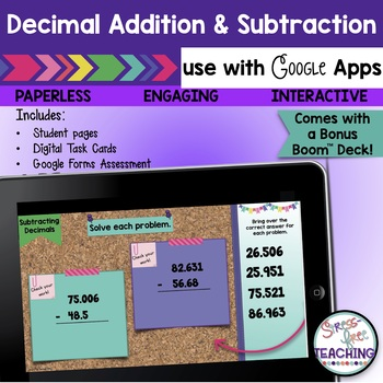 Decimal Addition and Subtraction for use with Google Classroom