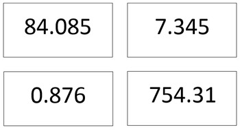 Decimal Addtion and Subtraction Activity