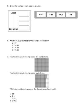 Decimal Assessment