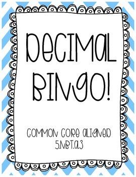 Decimal Bingo Review!