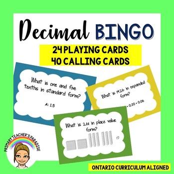 Decimal Bingo