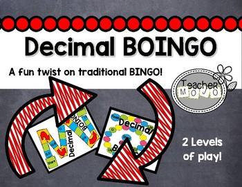 Decimal Bingo-Boingo  (A Common Core Decimal Game)