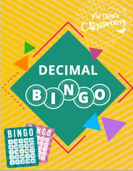 Decimal Bingo!!! (Comparing, Adding, Subtracting, Multiplying Decimals Game)
