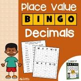 Place Value Decimals Game, Place Value Activities for 5th Grade, Decimal Bingo