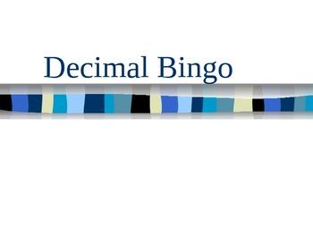 Decimal Bingo + - x /