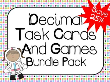 Decimal Bundle Pack:  Common Core Aligned 4.NF.6, 4.NF.7, 5.NBT.3