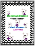 Multiplying, Dividing, Adding, Subtracting, and Rounding Decimals Bundle