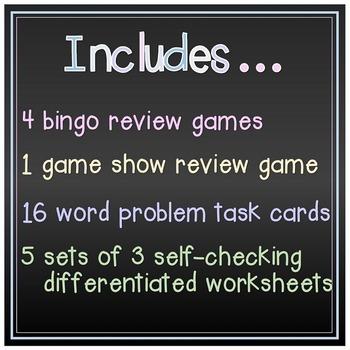Decimal Operations Bundle - games, task cards, & differentiated worksheets!