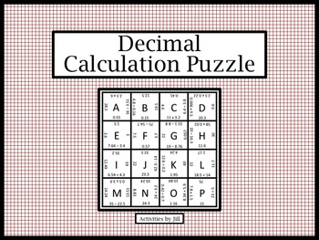 Decimals Dividing Puzzle Worksheets & Teaching Resources | TpT