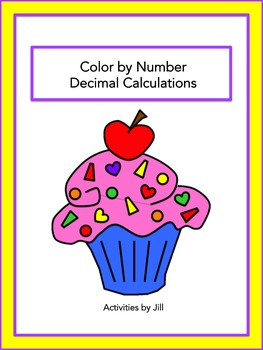 Decimal Calculations Color by Number