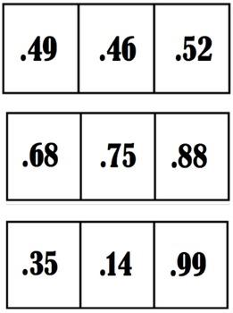 Decimal Cards