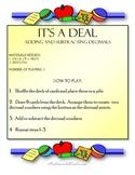 Math Center- Decimals Adding & Subtracting Practice