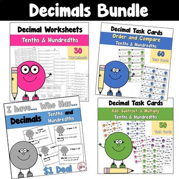 Decimals using Tenths and Hundredths BUNDLE