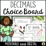 Decimal Choice Board - CCSS Aligned!