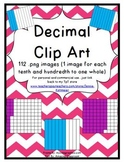 Decimal Clip Art (112 png images for tenths and hundredths)