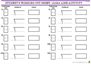 Decimal Clothes Line Activity - 4th Grade Fractions (4.NF.6)