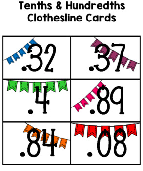 Decimal Clothesline Game/Activity - Ordering Decimals to the Thousandths